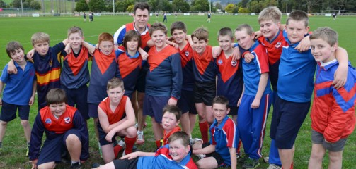 St James Cygnet and Sacred Heart Geeveston football match